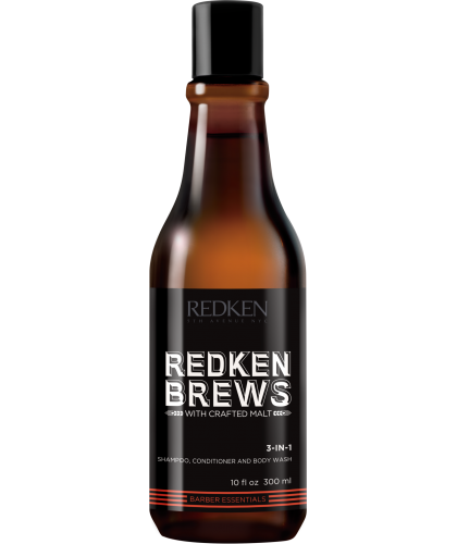 Redken Brews 3-in-1 Shampoo 300 ml