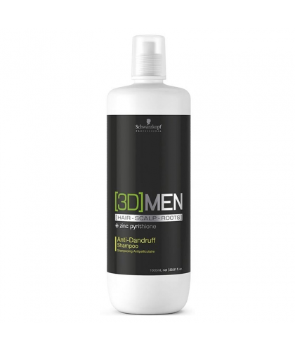 Schwarzkopf 3D Men Anti Dandruff Shampoo Salon 1000 ml | 4045787264586